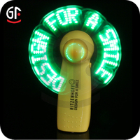 China Manufacturer Supplier Promotion Led Flashing Hand Fan With Led