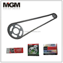 Motorcycle chain manufacture OEM High Quality ct100 motorcycle chain sprockets