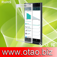 2.5D 0.33mm tempered glass screen protector, otao full cover tempered glass with anti-fingerprint