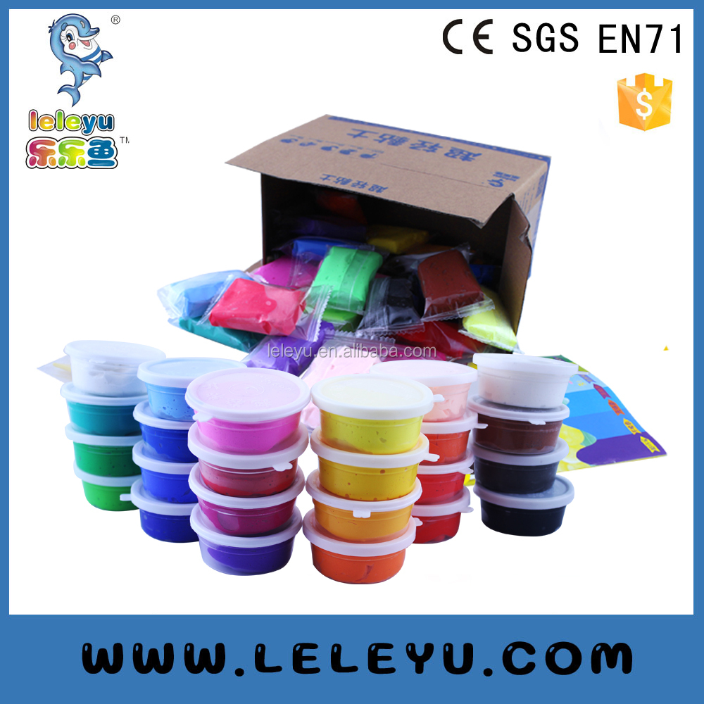 Eco-friendly kids soft factory directly selling Educational DIY toy Magic play dough modelling foam light weight clay