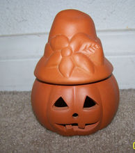 halloween and thanksgiving decor ceramic pumpkin tealight holder