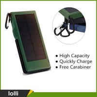 New Arrival fast charging waterproof multi-purpose portable 10000mah solar charger