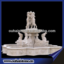 Stylish High Quality Granite Stone Fountain Garden Water Fountain With Nude Women Statues