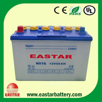 NS70 12V 65Ah battery truck battery car battery for autombile