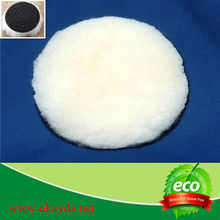 All size wool hook and loop fastener car polishing pad