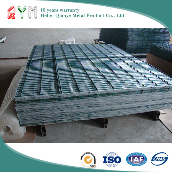 QYM- 2D Welded Double Wire Fence Hot Dipped Galvanized Fence