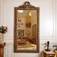 PU251 Salon Antique Decorative Framed Plastic Wall Mirror