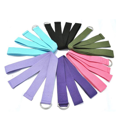 High Quality Fitness Equipment Cotton D Ring Yoga Strap