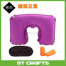 Alibaba wholesale custom cheap outdoor indoor neck rest travel folding air inflatable memory foam travel pillow