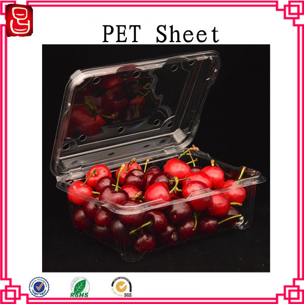 Non-toxic transparent plastic pet sheet for medical thermoformed packaging
