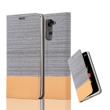 Jean Wallet Leather Case For LG STYLUS 2 Invisible Magnet Flip Phone Case For LG STYLUS 2 Card Slot Holder Leather Cover