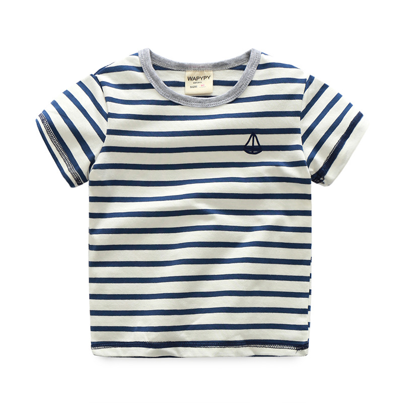 Ali Express Turkey Buy Direct From China Manufacturer Boys Blouse Cotton Vertical Children Kids Stripe T-shirts