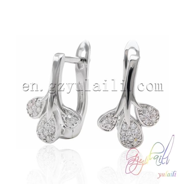 2016 Best selling silver earring Wholesale italian jewelry Pure silver jewelry
