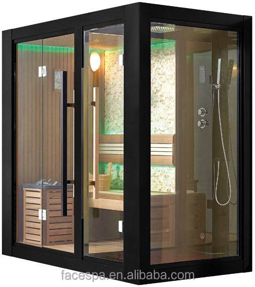 Home steam sauna room with shower cabin FS-1404 for modern house design