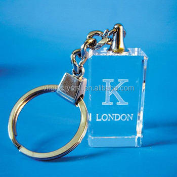 Wholesale promotion Colorful custom LED Crystal Keychain/Crystal Keyring for wedding gift