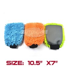 Microfiber Chenille Wash Mitt Car Cleaning Washing Mitt Glove Microfibre Noodle Sponge Cloth Wholesale Car Washer 2IN1
