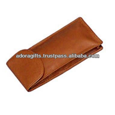 ADASGC - 0002 top quality eyeglasses pouch / personalized women eyeglasses case / brown leather spectacle case for glasses
