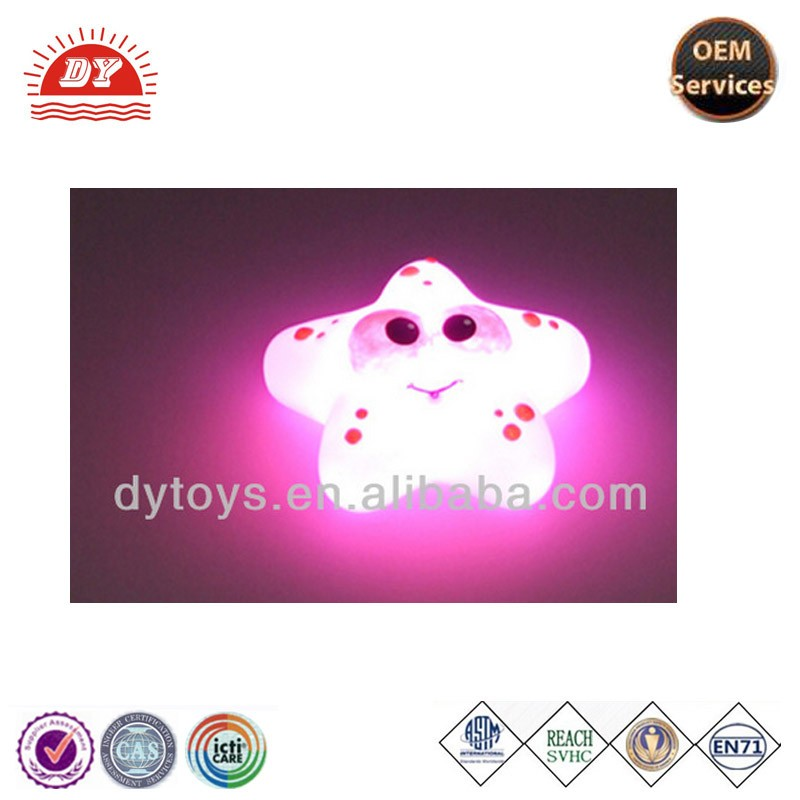 custom plastic led flashing toy