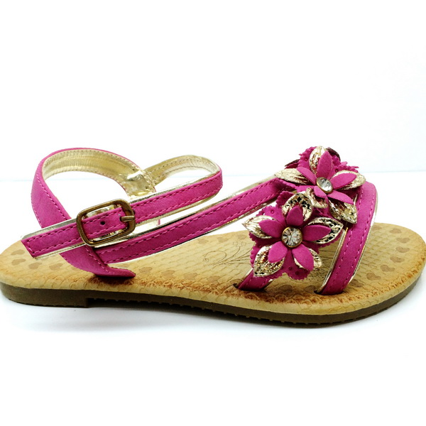 Latest High Quality Comfortable Flower Kids Girl Fashion Sandals, Flat Sandals