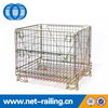 Welded foldable metal collapsible warehouse storage wire cages