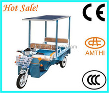 solar electric tricycle/long distance big power , solar passenger tricycle , summer three wheeler solar rickshaw AMTHI