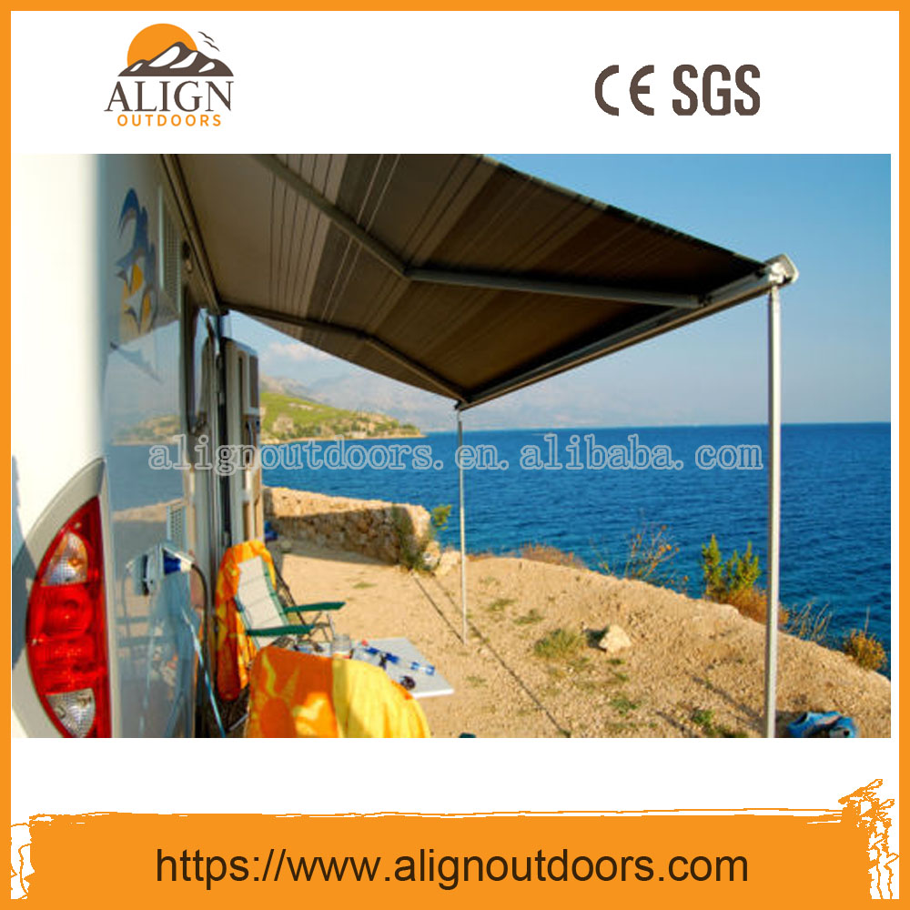 RV Car Sun Shade Wall Roll Out Motorized retractable Caravan Awnings for camping