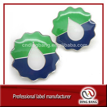 Wholesale Promotion Cheap Items Stamped Type And Hard Enamel Type Flower Shape Custom Logo Metal Epoxy Badge