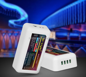 Milight factory 12v 24v Led strip controller rgb/rgbw strip dimmer 4-zone 2.4G RF remote wireless control