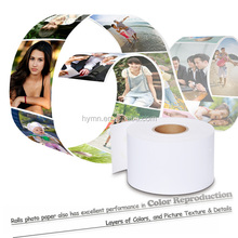 Glossy photo paper for dry minilabs