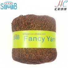 china MH lurex yarn manufacturer shingmore bridge best sales high quality 25g spools copper metallic yarn for knitting