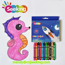 Small order accepted 12 colors washable crayon for children