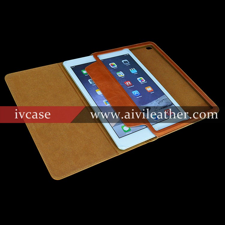Gorgeous Nature Head Layer Leather Book Covers For Leather Case Ipad Air Stand Cover