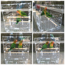 clear acrylic bird feeder cage