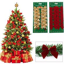 Christmas Decorations Wholesale Christmas tree ornaments small wholesale bows (12 Pack)
