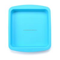 FDA LFGB silicone bakeware square cake pan for christmas