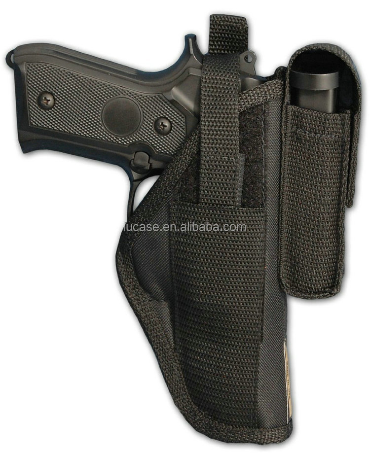 Right Left Hand Draw Nylon OWB Belt Gun Holster with Mag Pouch for Remington R1, Rock Island 1911, Ruger SR1911, Colt Govt, Colt
