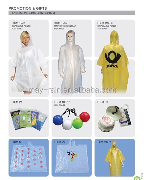 Tennis Ball Disposable Poncho