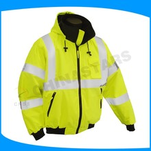 yellow safety winter jackets hi vis jacket for cycling, Motorcycle riding etc