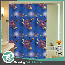 High quality bathroom shower curtains 180x180 with rings