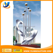 Metal crafts stainless steel sculpture, abstract flower statues