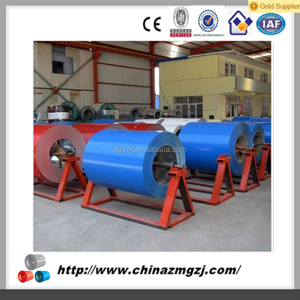 The raw material of roofing sheet color coated galvanized steel coil from China
