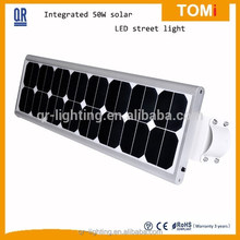 High power all in one 60w integrated solar street light Epistar chip Aluminum Alloy available led street light fitting
