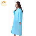 2018 ladies PVC or EVA material waterproof adult raincoat