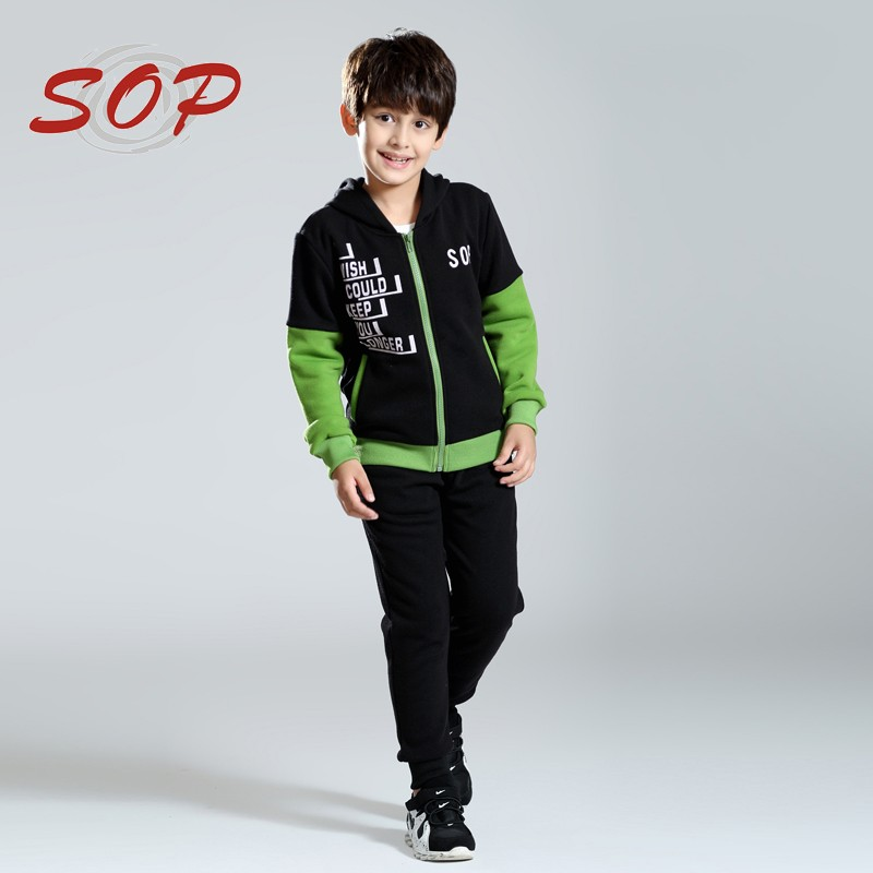 Children Sport outwear boys sweatshirt long sleeve kids boy print zipper hoodies tracksuit