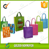 nonwoven shopping womens tote bags/Laminated PP Nonwoven Bag/non-woven bag 80g colored with customized logo