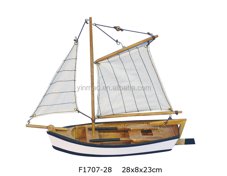 Middle wooden lake fishing boat model,28x8x23cm, lake ship, family vessel, hand craft ship model decoration