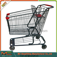 Black Coated American Supermarket Shopping Trolley, Shopping Cart