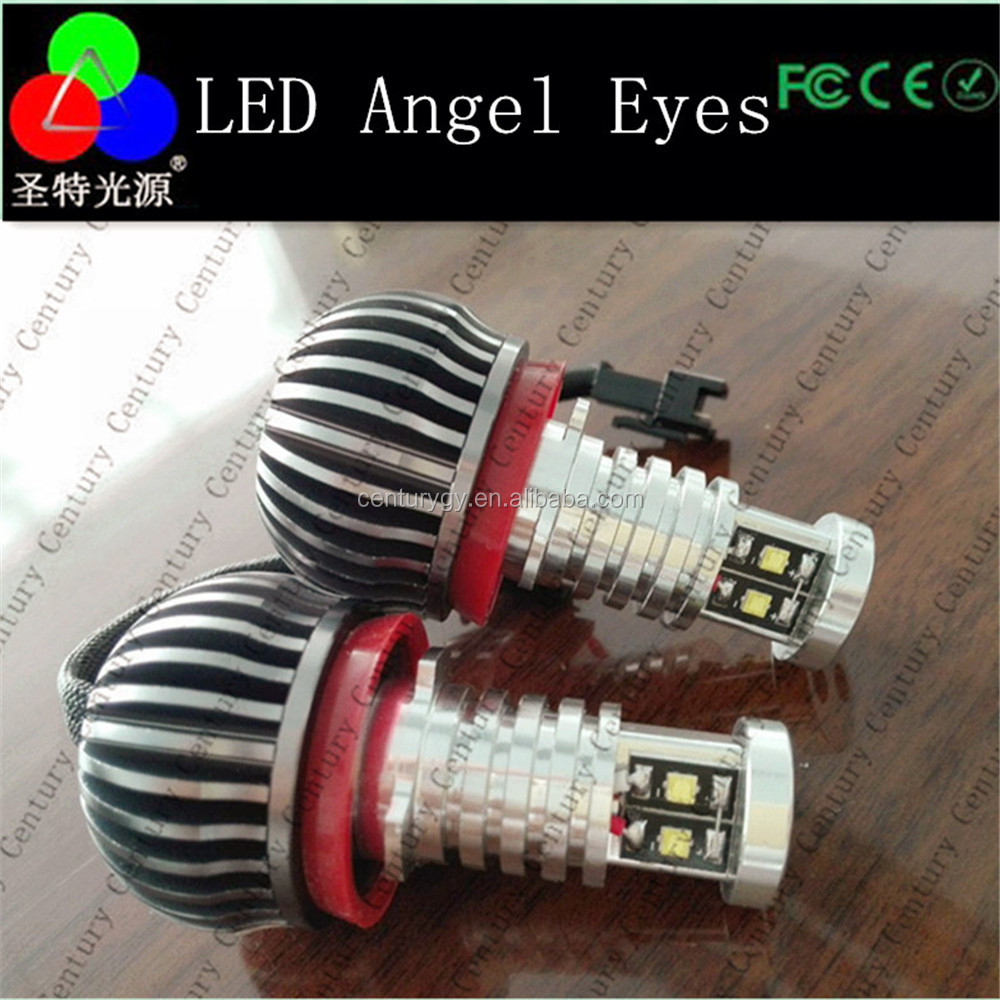 Factory supply led angel eye for BMW E90 E60 E87 E83 with power packs C ree Chips Led Angel Eye Led Marker H8 with fan