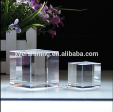 Factory wholesale K9 blank solid glass Crystal Block Cube 3d Laser Engraved for gifts