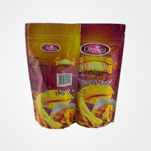 Custom design printings dry fruit snack biscuit food packaging zip lock seal stand up pouch with clear window